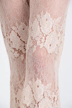 Load image into Gallery viewer, Beige Lace Flare Pant