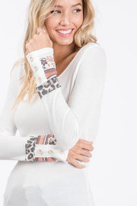 Long Sleeve Top with detailed cuff