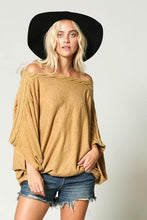 Load image into Gallery viewer, Mustard Oversized Off Shoulder Knit Sweater