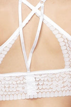 Load image into Gallery viewer, White Criss Cross Back Bralette