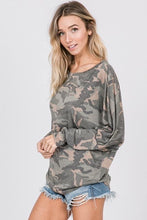 Load image into Gallery viewer, Camo Off Shoulder Top