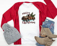 Load image into Gallery viewer, Merry Christmas Leopard Truck Tee