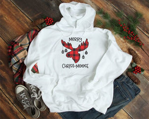 Merry Christ-Moose Bella Canvas Softstyle Hoodie
