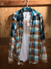 Load image into Gallery viewer, /Rust/Black hand dipped vintage flannel XL
