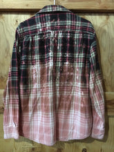 Load image into Gallery viewer, Red & Black hand dipped vintage flannel Large