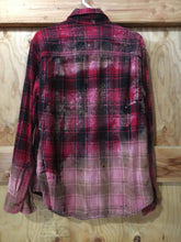 Load image into Gallery viewer, Red & Black hand dipped vintage flannel Medium