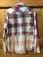 Load image into Gallery viewer, Red/white/blue hand dipped vintage flannel Medium