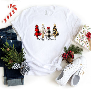 4 Christmas Tree Leopard Tree Crew Neck Tee