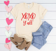 Load image into Gallery viewer, XOXO Y'all Red Print Graphic Softstyle Tee