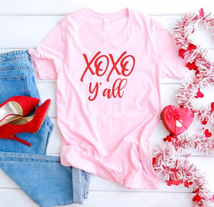 XOXO Y'all Red Print Graphic Softstyle Tee