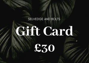 Selvedge and Bolts GIFT CARD