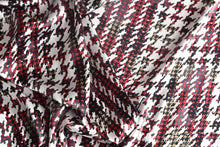 Load image into Gallery viewer, Okay its Houndstooth mania around here (Red) -  Silk
