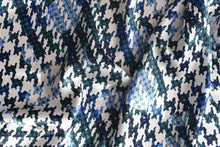 Load image into Gallery viewer, Okay its Houndstooth mania around here (Blue) -  Silk