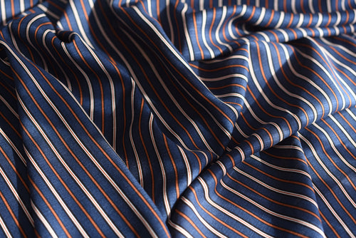 However you look at it, stripes are cool (Blue)-  Viscose