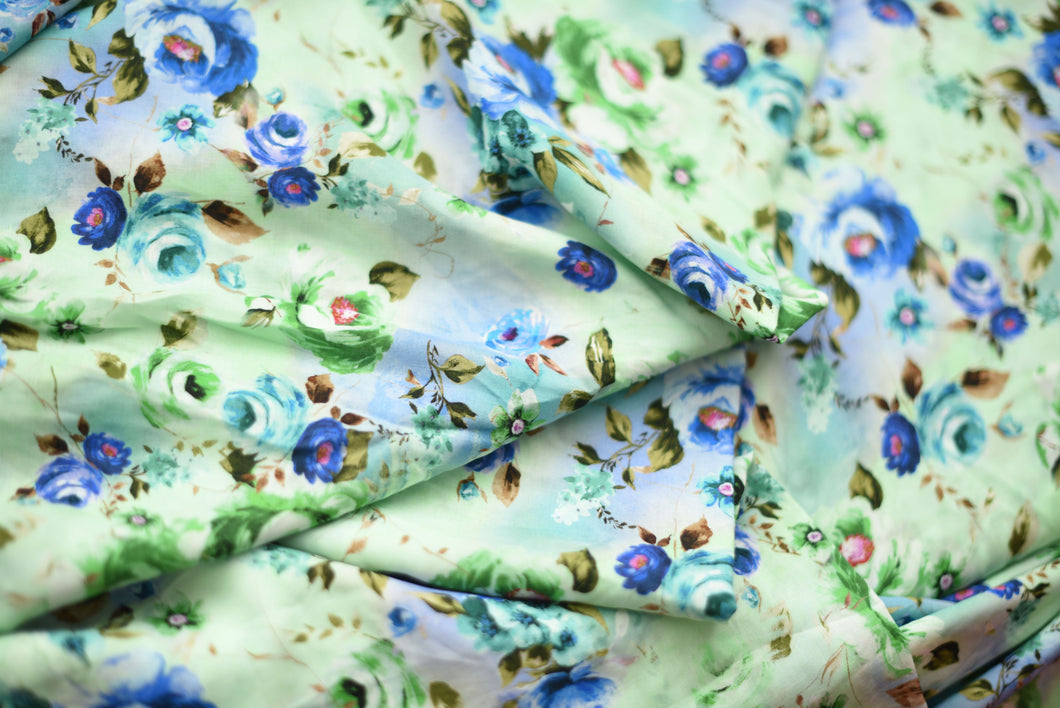 Gai Green Floral Experiments  -  Viscose