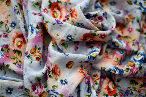 Gai Blue Floral Experiments  -  Viscose