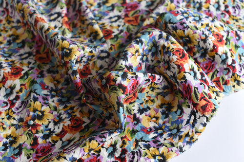 Happiness Is Florals -  Viscose Linen