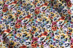 Happiness Is Florals -  Viscose Linen (Remnant 1.65metres)