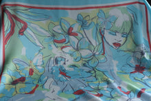 Load image into Gallery viewer, It has been said that beauty is subjective (Turquoise )-  Silk (Panel)