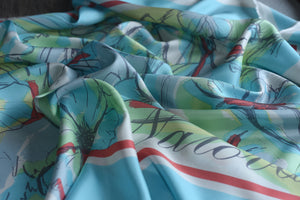 It has been said that beauty is subjective (Turquoise )-  Silk (Panel)