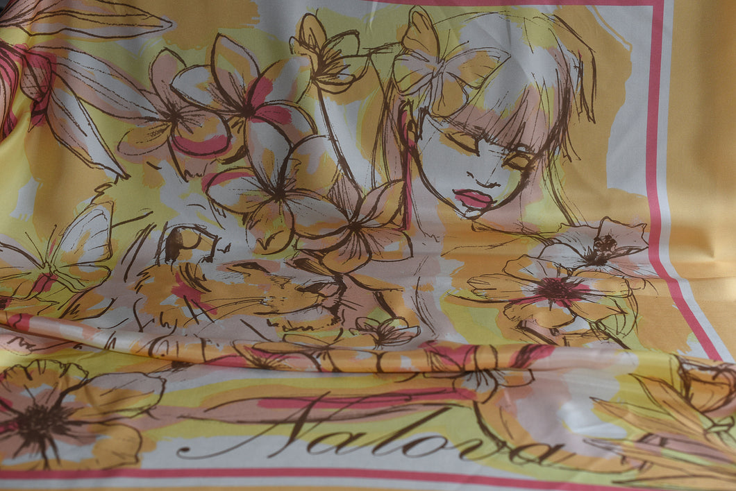 It has been said that beauty is subjective (Yellow )-  Silk (Panel)