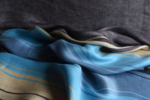 Load image into Gallery viewer, Stack the colourful lines please (Blue, Turquoise)  - Silk (Panel)