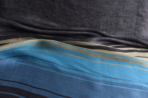 Stack the colourful lines please (Blue, Turquoise)  - Silk (Panel)