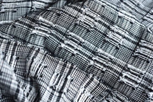 Textured Checks make the World Awesome - Cotton Silk Viscose