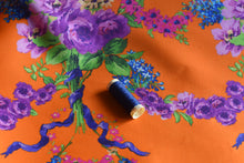 Load image into Gallery viewer, Florally Adequate, Don't Ask (Orange) -  Silk Wool