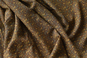 Autumn Has Come With Leaves (Brown)  -  Viscose