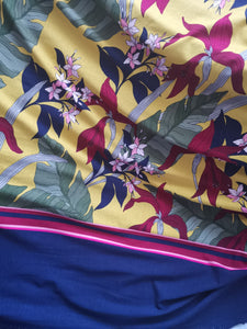 Tropical Mustard-  Viscose Jersey