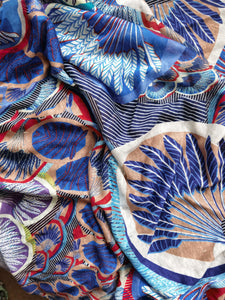 Peacocks Are Quite The Exhibitionists You Know (Blue) -  Linen Jersey
