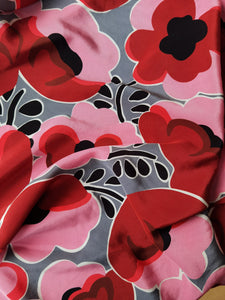 Poppies Galore Indeed -  Silk