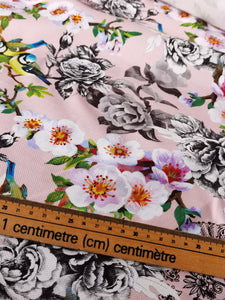 Hearts and Florals Do Ring A Bell - Cotton Linen
