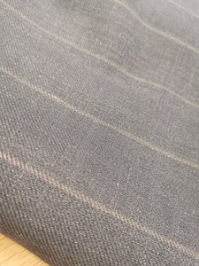 Take Me Back To When Pin Stripes Were The Rage (Grey)-  Wool (3mts)