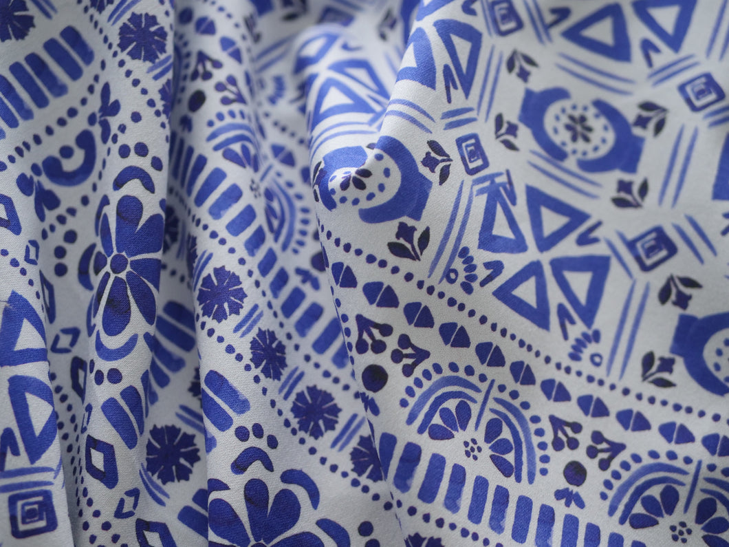 Blue Aztec Festival-  Cotton