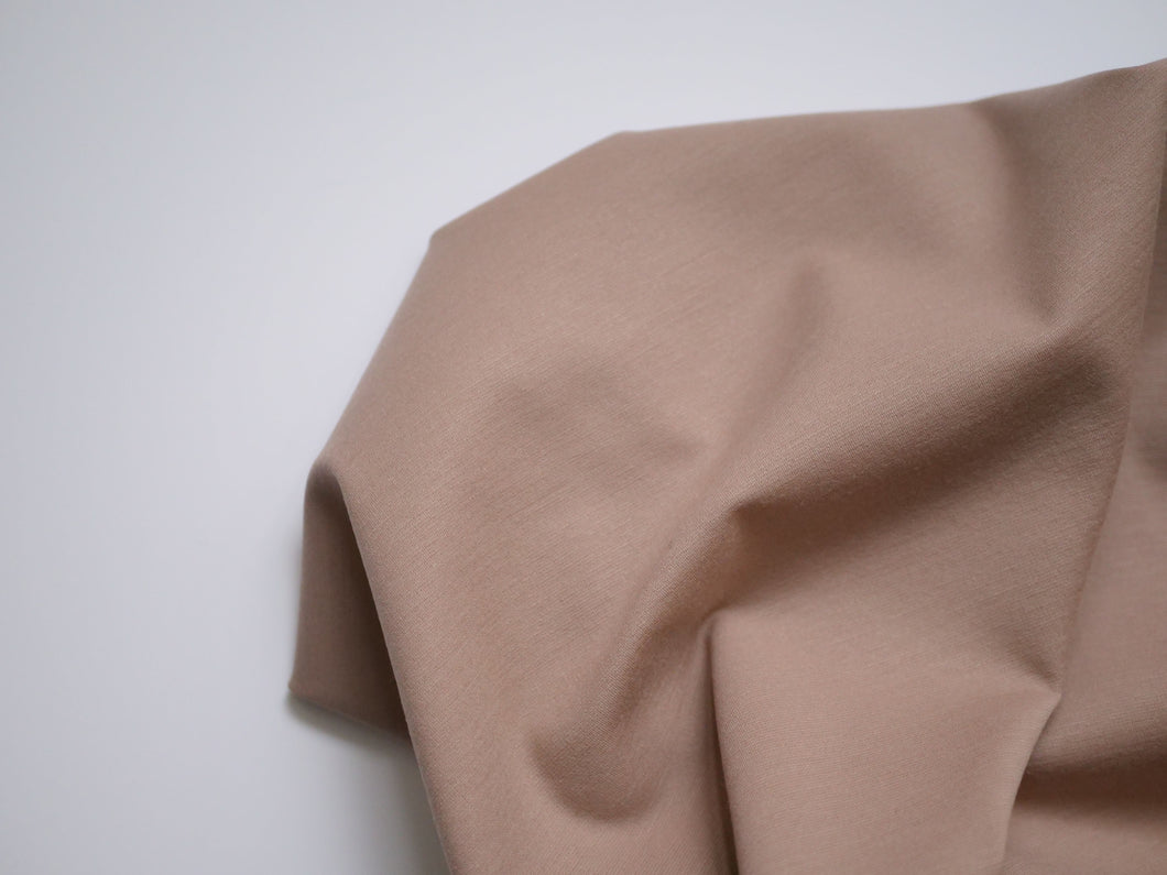 Brown Sugar - Wool Ponte di Roma Jersey