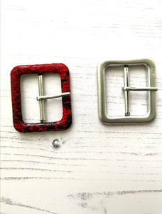 Square Covered Buckle Blanks for Fabric Belts