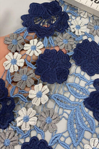 *PRE-ORDER* The Lace Of My Dreams -Blue Mix - Polyester