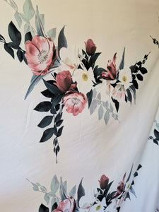 Stunning floral stretch cotton fabric