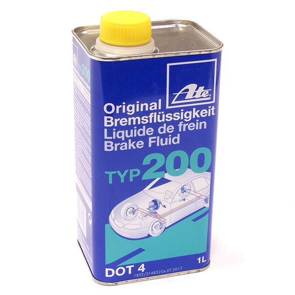 ATE (Amber) Typ200 DOT 4 Racing Brake Fluid, 1 Liter