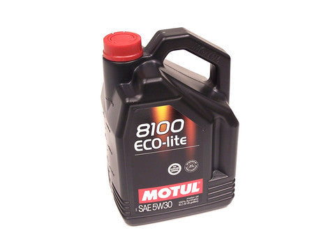 Motul 8100 Eco-lite 5w30 Synthetic Oil Gas & Diesel Lubricant- 5.28 Quarts - 5L