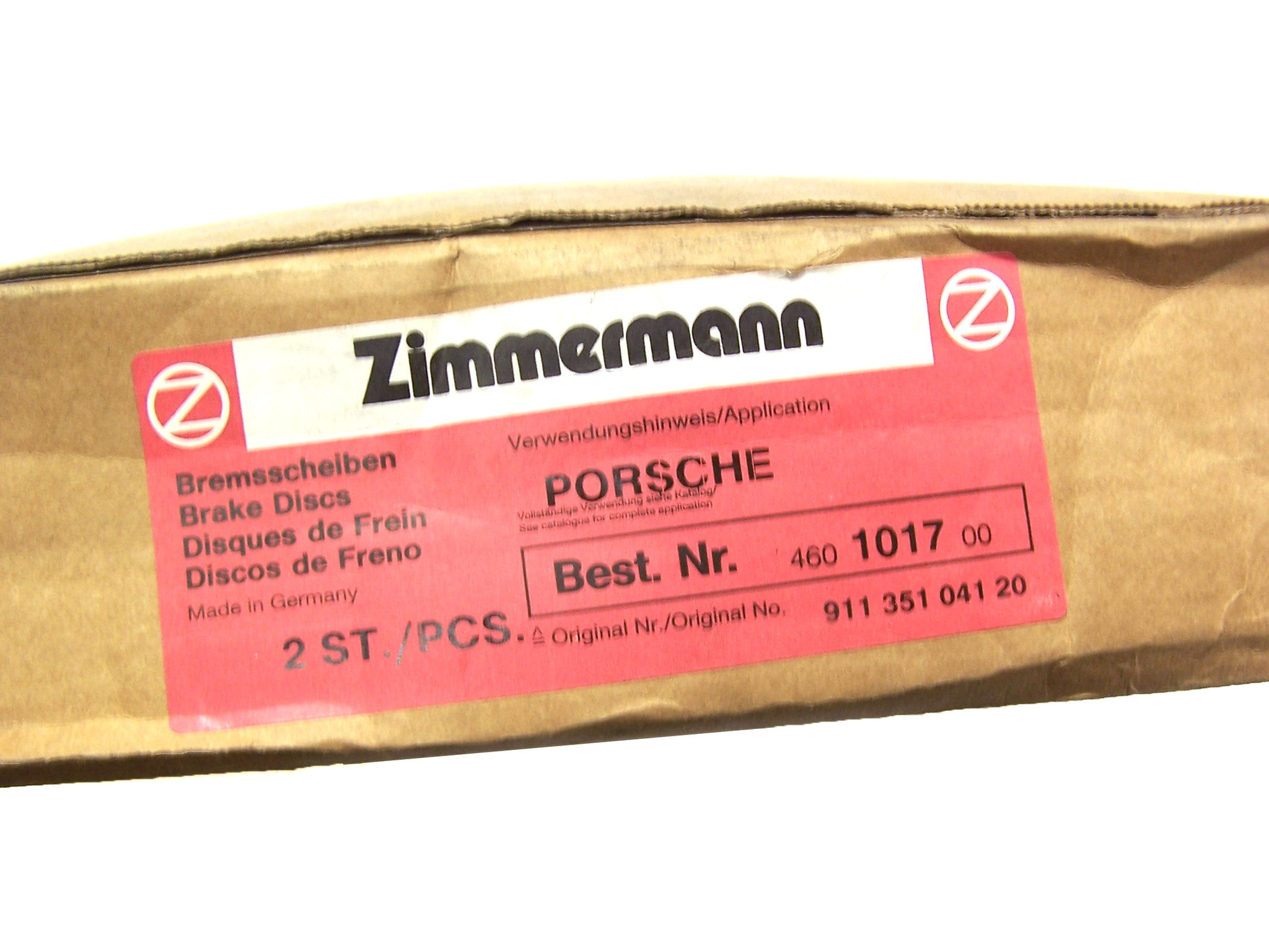 Zimmermann Premium Cross Drilled Front Rotors - Porsche 911/914/924/944