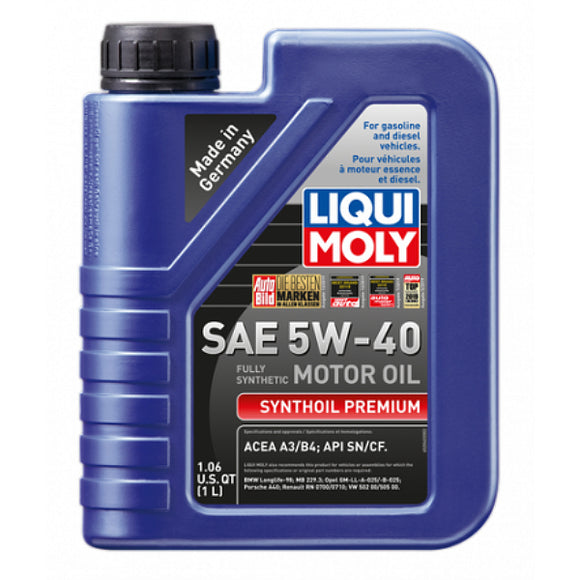 Liqui Moly Full Synthetic Synthoil Premium 5W-40 Motor Oil - 1 Liter