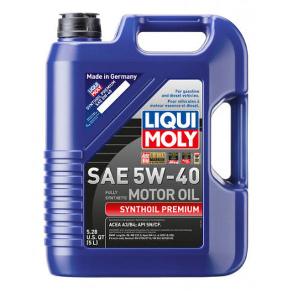 Liqui Moly Full Synthetic Synthoil Premium 5W-40 Motor Oil - 5 Liter