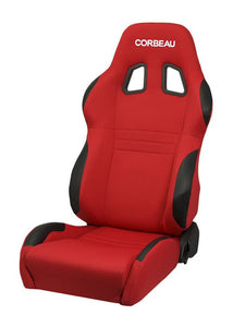 Corbeau A4 Seat Set (Driver & Passenger) - Red Cloth