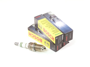 Bosch Super Copper Spark Plugs, Triple Tip (Set of 4) - VW Mk1 & Mk2 16v