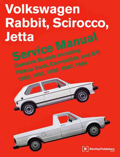 Bentley Repair Manual - VW Mk1 Rabbit/Scirocco 80-84