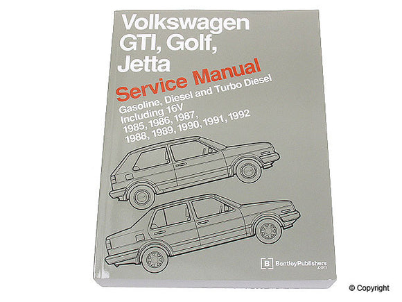 Bentley Repair Manual VW Mk2 Golf/Jetta 8v/16v 1985-92