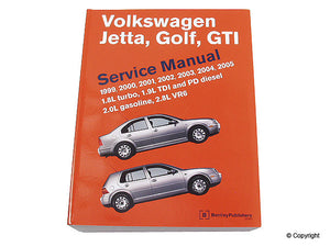 Bentley Repair Manual VW Mk4 Golf/Jetta 1999-2005 all
